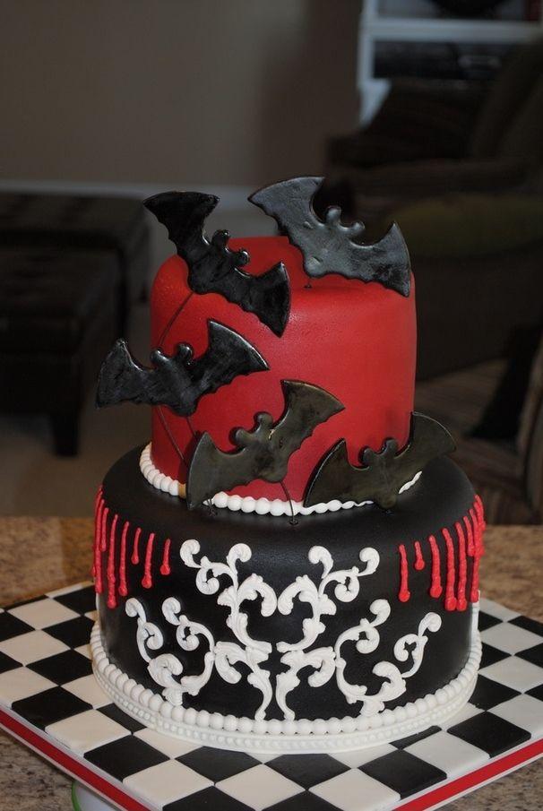 Bat Cake Gothic Halloween Wedding Cake Goth Dark Cakes Cookies