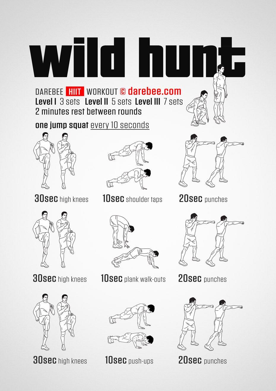 Wild Hunt workout.
