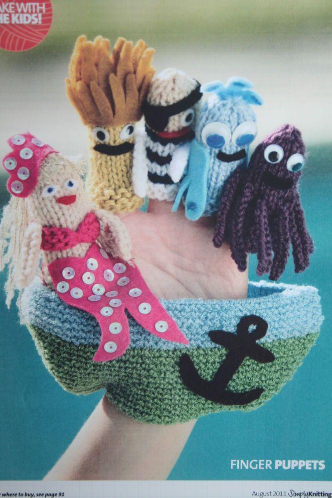 Finger Puppets Knitting Pattern | Granny Shanny | Pinterest | Finger ...