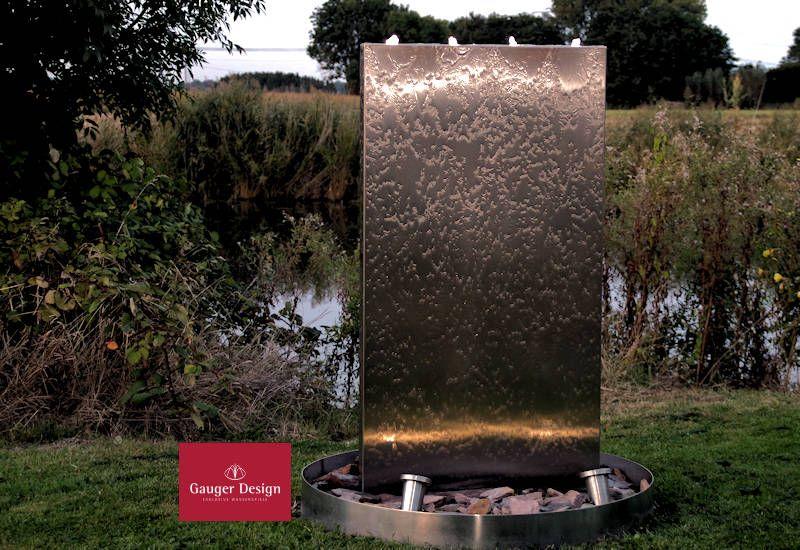 Http Www Designer Brunnen De Edelstahlbrunnen Wasserwand Edelstahl