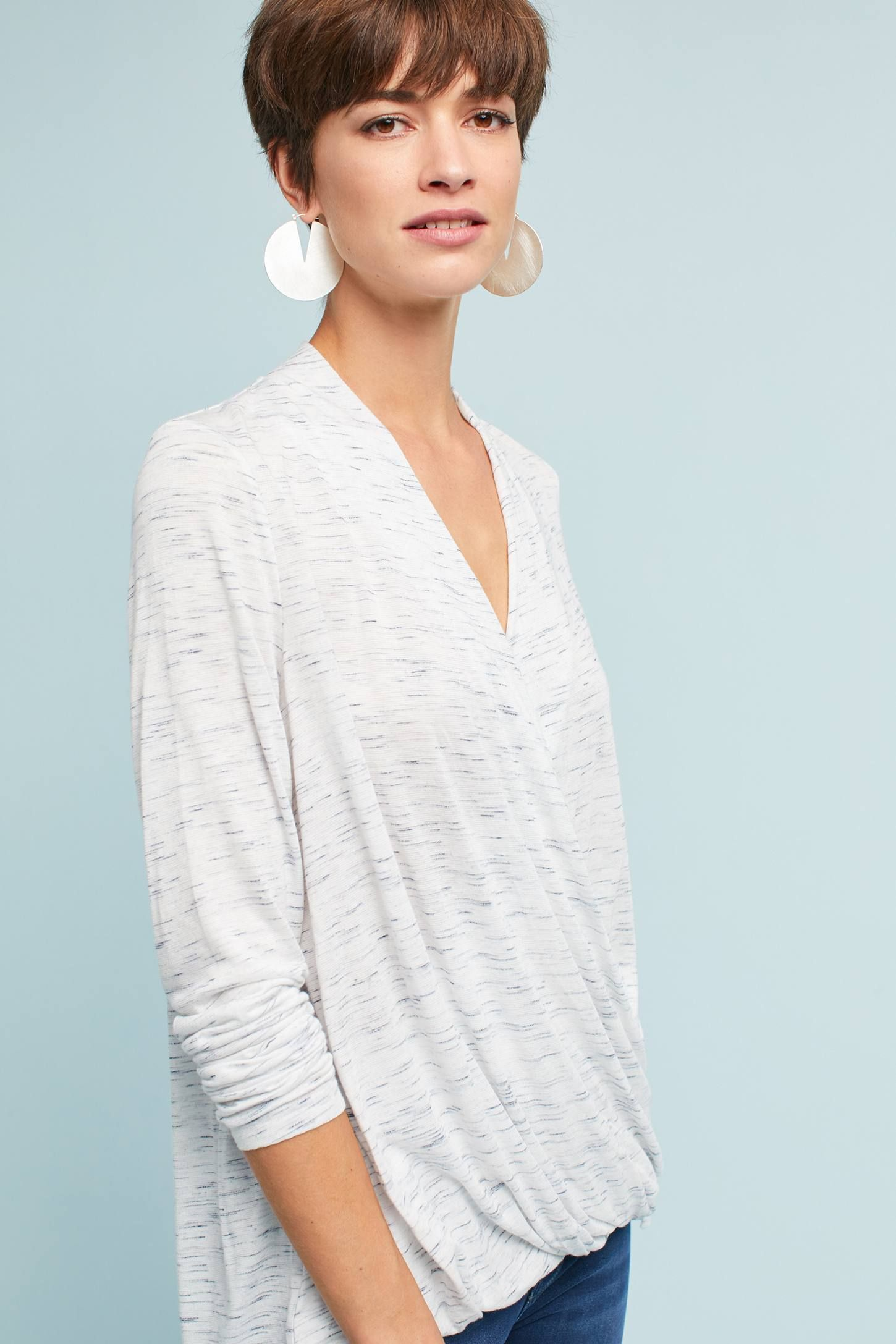 3bbd883eb6a Shop the Spacedyed Wrap Top and more Anthropologie at Anthropologie today. Read  customer reviews