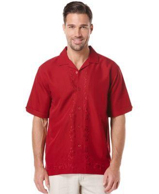 Cubavera Embroidered Short-Sleeve Shirt