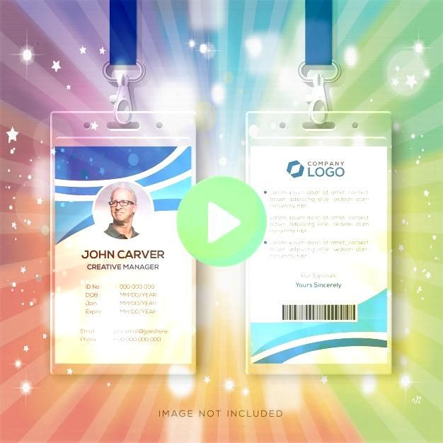 de tarjeta de identificación c  Premium VectorPlantilla de tarjeta de identificación c  Premium Vector Business Office ID Card Bundle Volume 01 ID card temp...
