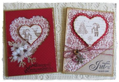 Christmas heart cards, these are so folksy festive, must try these!