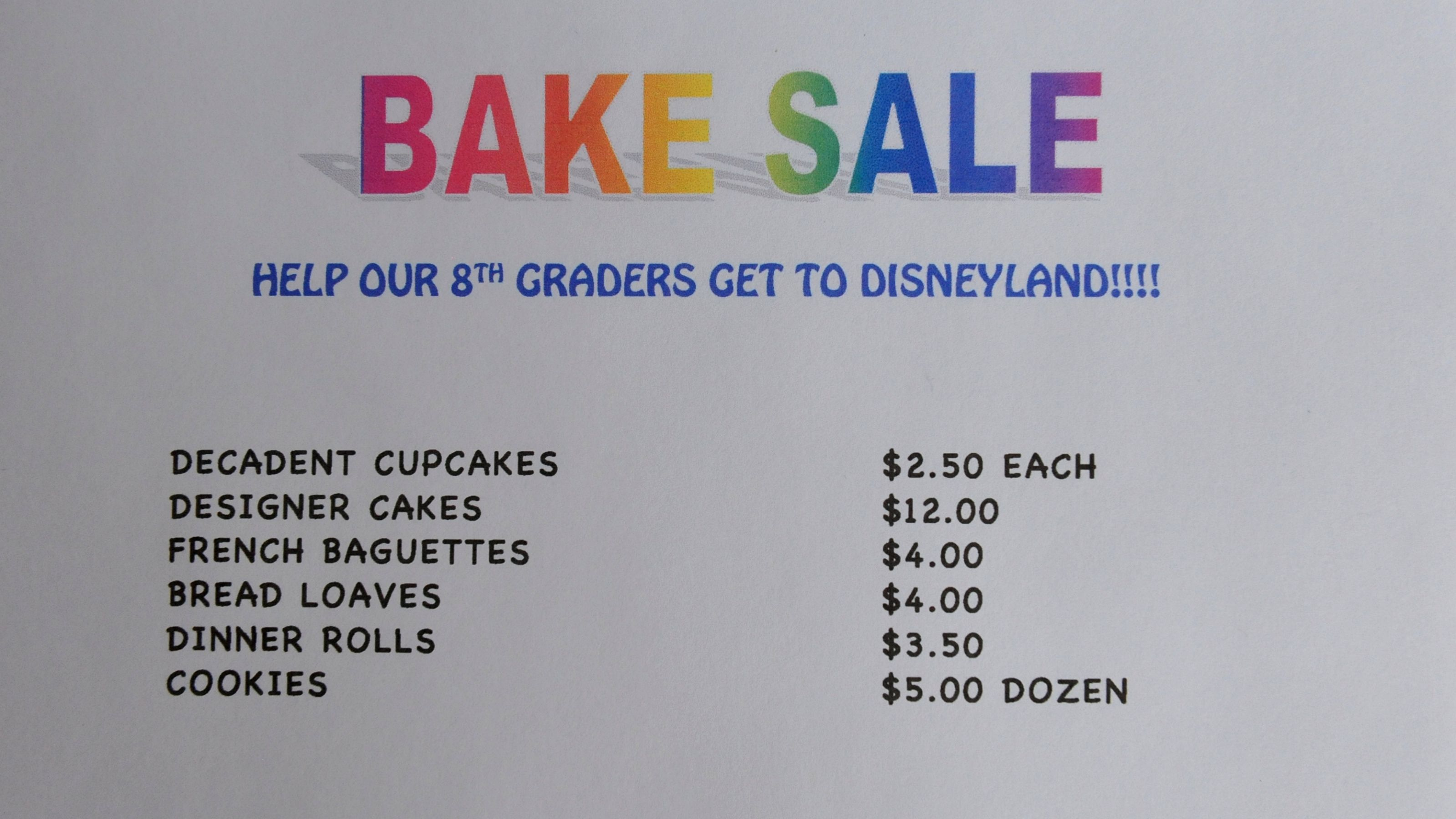 How to Plan a Bake Sale #bakesaleideas
