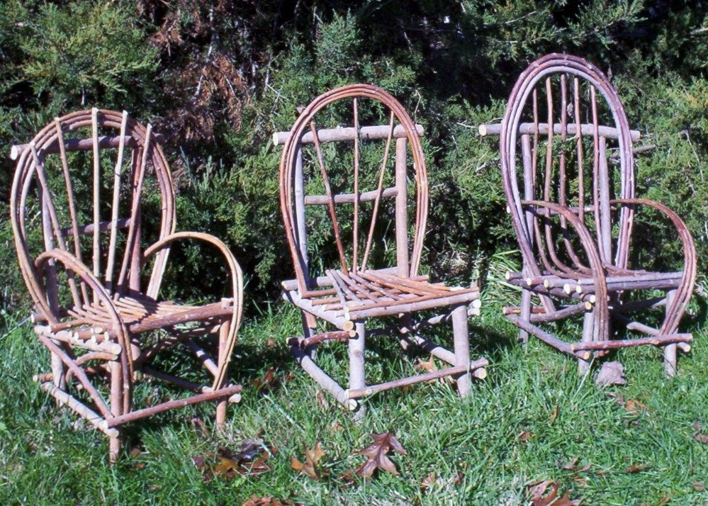 Plan How to build Rustic Bent Willow Twig Chair child size DIY