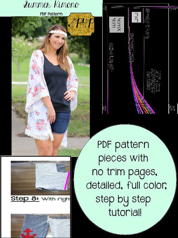 Summer Kimono Pdf Sewing Patterns For Pirates Cardigan Knit