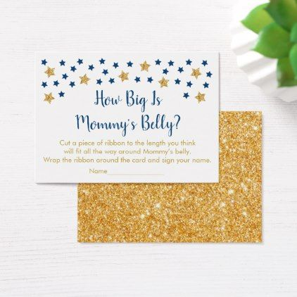 Navy gold twinkle star how big is mommys belly business card navy gold twinkle star how big is mommys belly business card twinkle star colourmoves