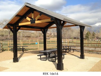 Rectangle Gable Roof Shade Shelter With Cupola 24x24
