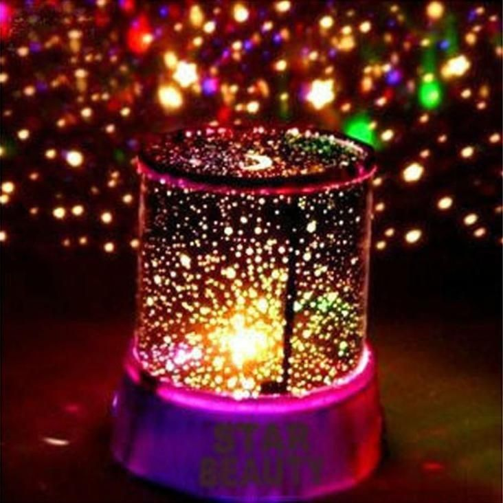LED Night Light Projector Lamp Colorful Star Light Bedside Lights