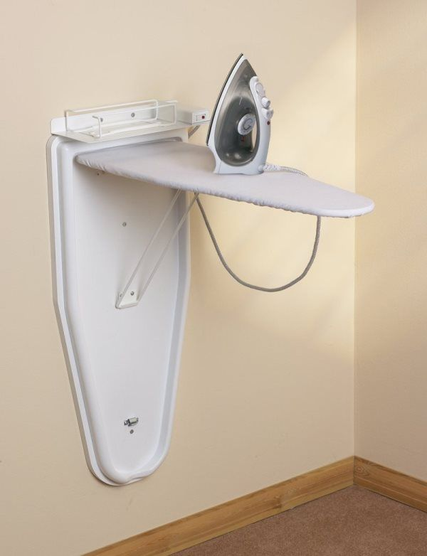 6 Tips For Storing Ironing Board And Dryer Wall Mounted Ironing Board Mounted Ironing Boards Laundry Room Diy
