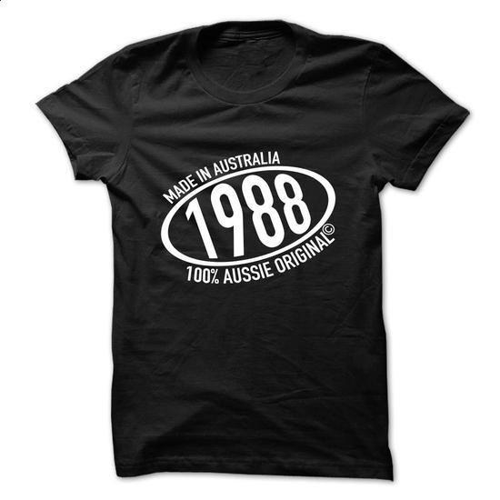 Made in 1988 - 100% Aussie Original - #pink shirt #sweatshirt man. I WANT THIS => https://www.sunfrog.com/Birth-Years/Made-in-1988--100-Aussie-Original-thqcusxgon.html?68278