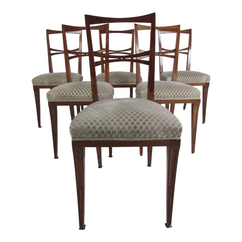 Mid Century Italian Dining Chairs After Gio Ponti Dining Chairs Mid Century Dining Chairs Italian Dining