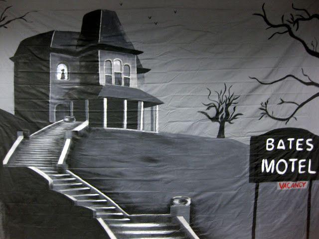 Stencil BATES MOTEL NO VACANCY Sign Stencil Haunted House Halloween