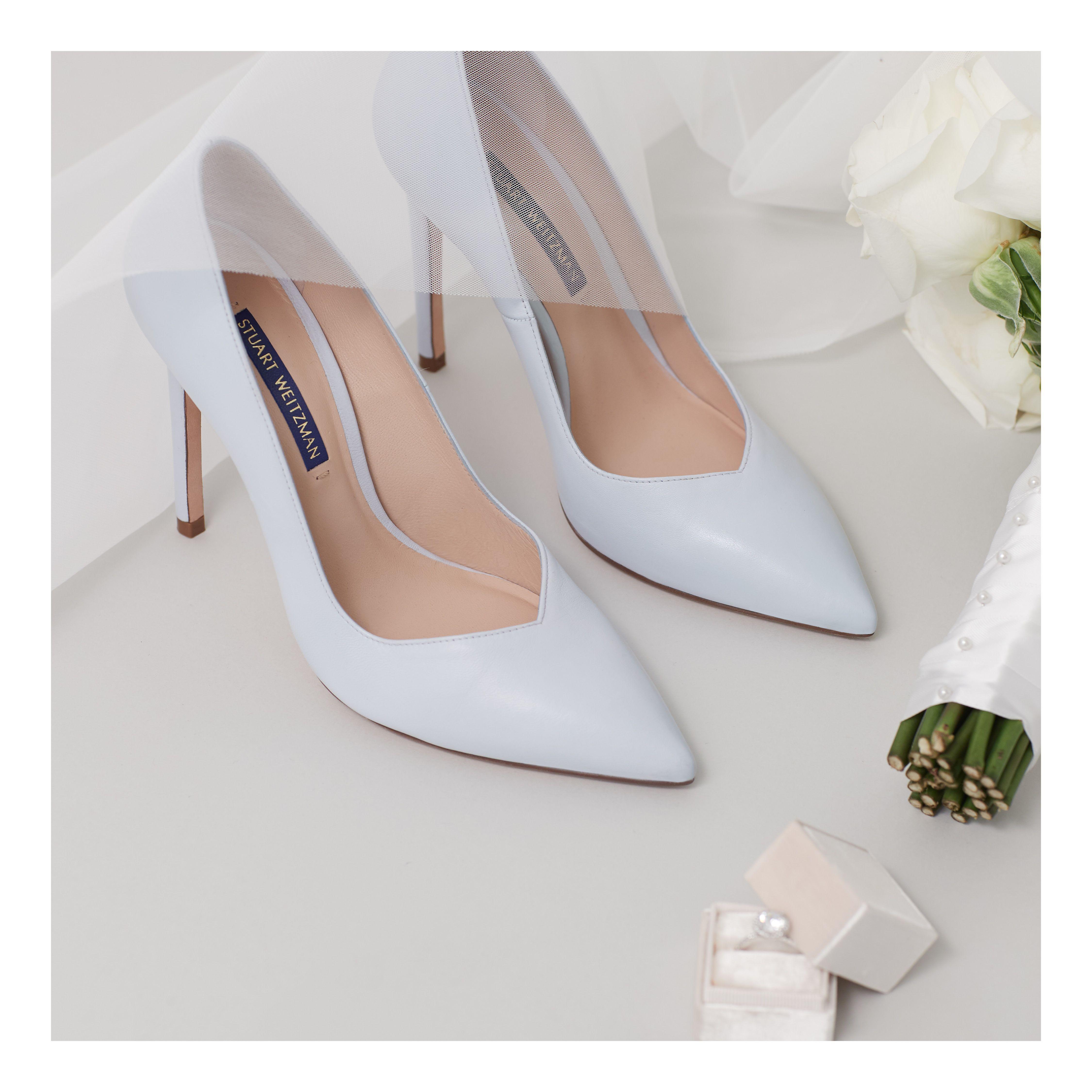 A Classic Something Blue You Can Wear Long After You Say I Do Swbridal Swwomen Stuartweitzman Bridal Shoes Pumps Heels Stuart Weitzman