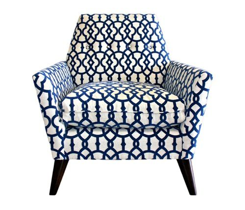 Weu0027ve Got The Blues: 10 Blue U0026 White Patterned Chair Designs