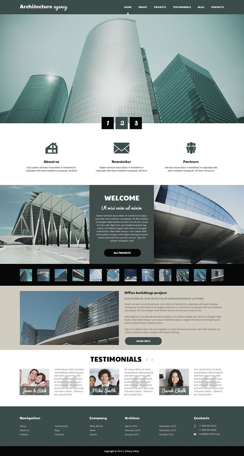 Architecture Business WordPress Theme #50533