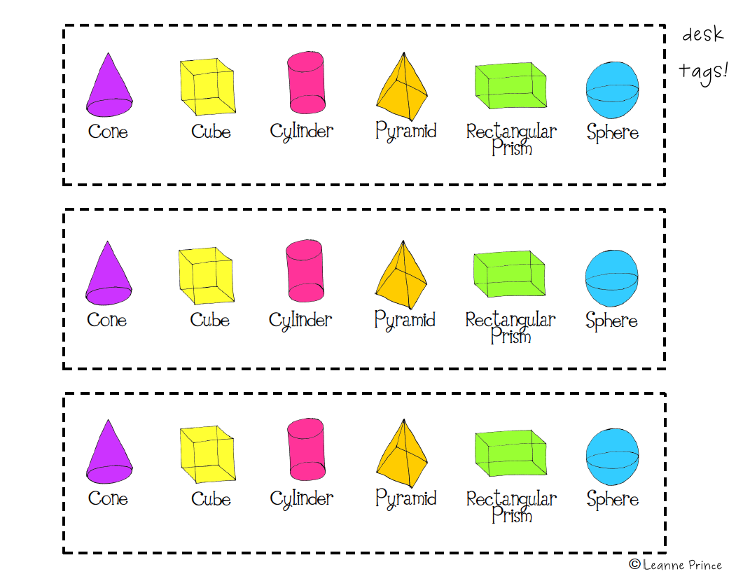 hight resolution of 3-D Shapes Poster Pack!   Shape posters