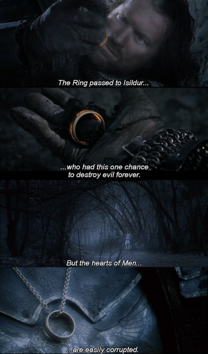 Lord of the rings quotes ring power
