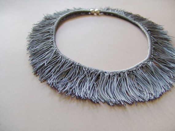 Gray Cord Necklace by PourAngelique on Etsy, $38.00