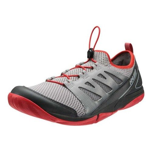 2ed101e4bc67 Men s Helly Hansen Aquapace 2 Sailing Shoe - Silver Grey Alert Red Ebony  Sailing Shoes