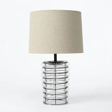 Light Touch The Linear Blown Glass Table Lamp Is Created