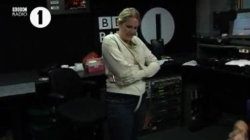 Becki from Radio 1 & her failed attempt at a straitjacket ...