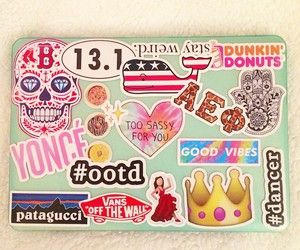 cool laptops with stickers - Google Search