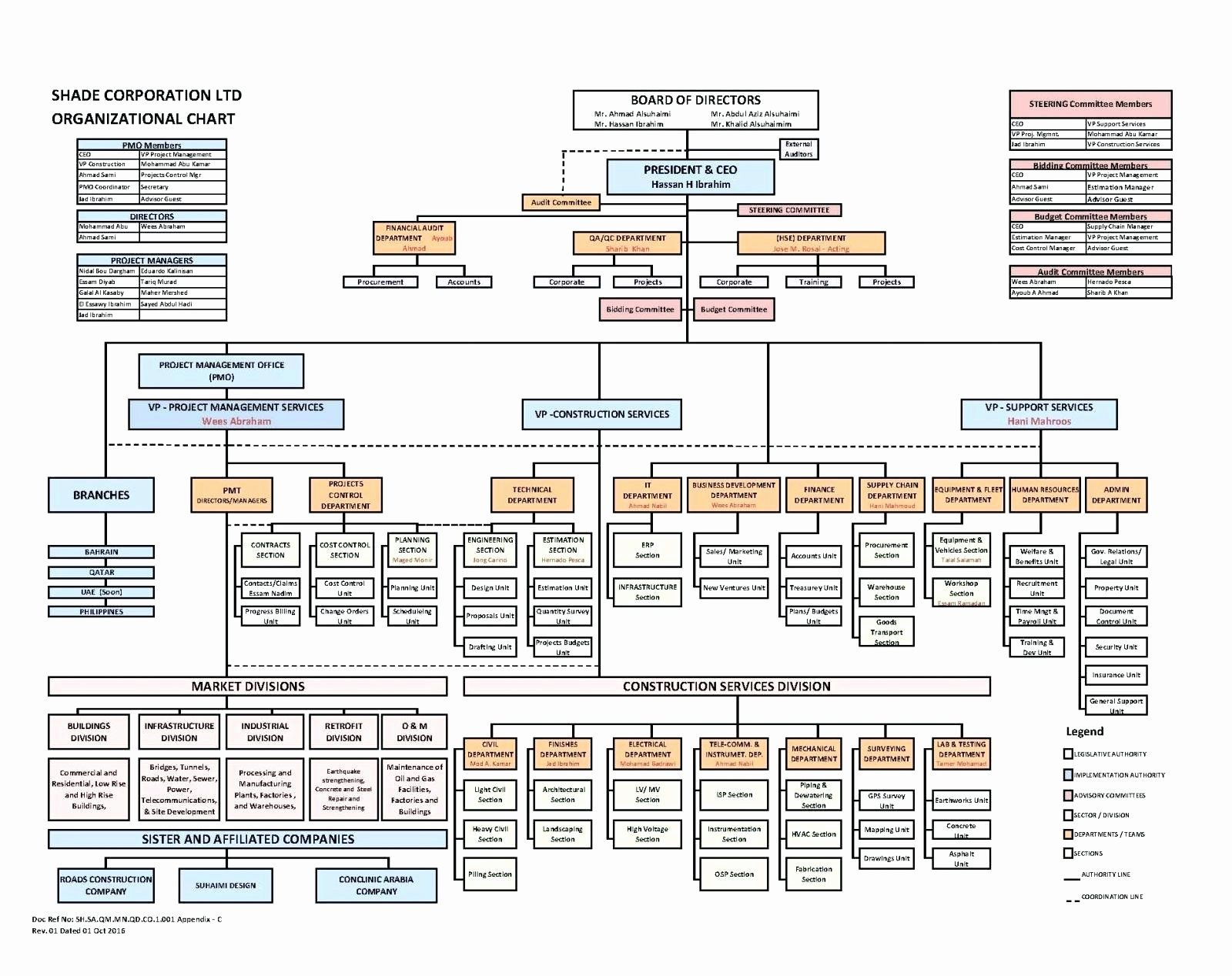 Project Team Organization Chart Template Awesome 80 Detailed Hse