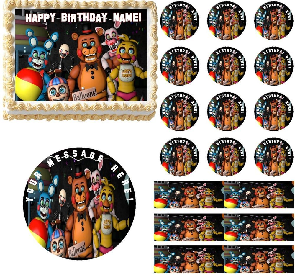 Ideas five nights at freddy party - Five Nights At Freddy S New Generation Edible Cake Topper Image Frosting Sheet