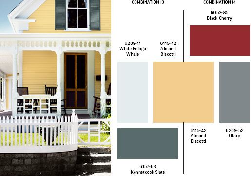 Paint Colors Yellow House Exterior