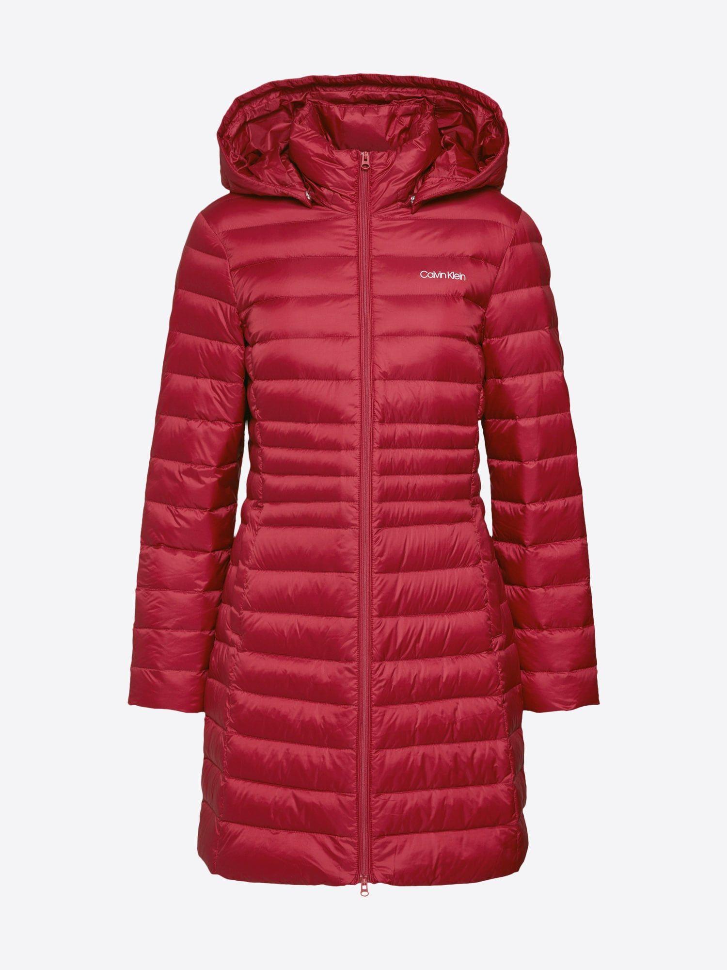 Calvin Klein Mantel Essential Light Down Coat Damen Burgunder Grosse Xl Daunenmantel Daunenmantel Lang Mantel