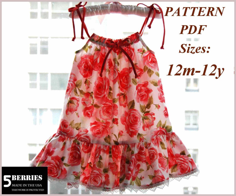 Maria Pillowcase Girls dress PATTERN + Free Mother-Daughter Apron ...