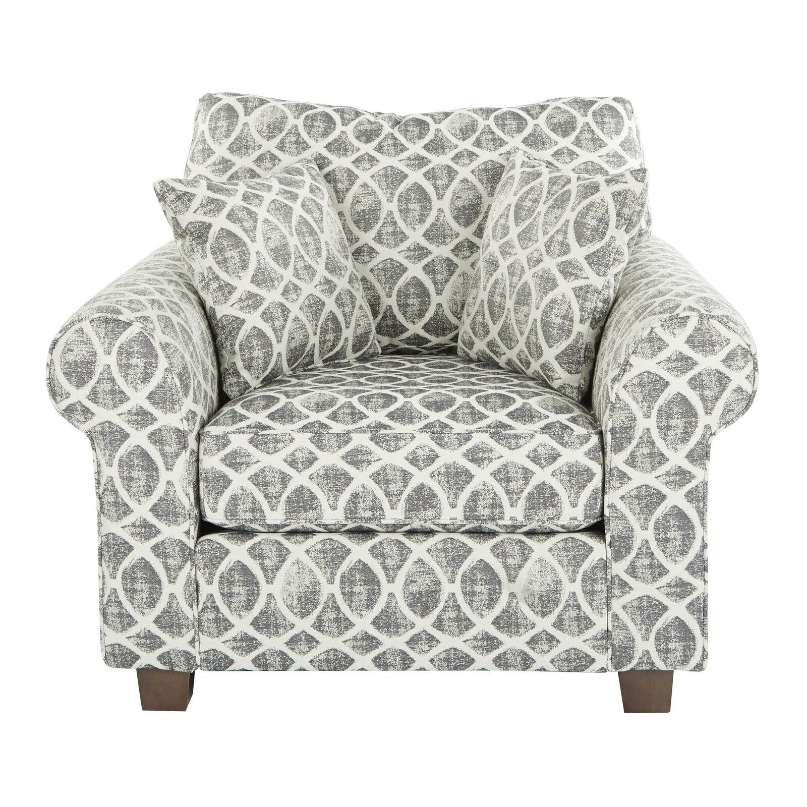 Darby Home Co Border Rolled Armchair  Wayfair  Accent chairs