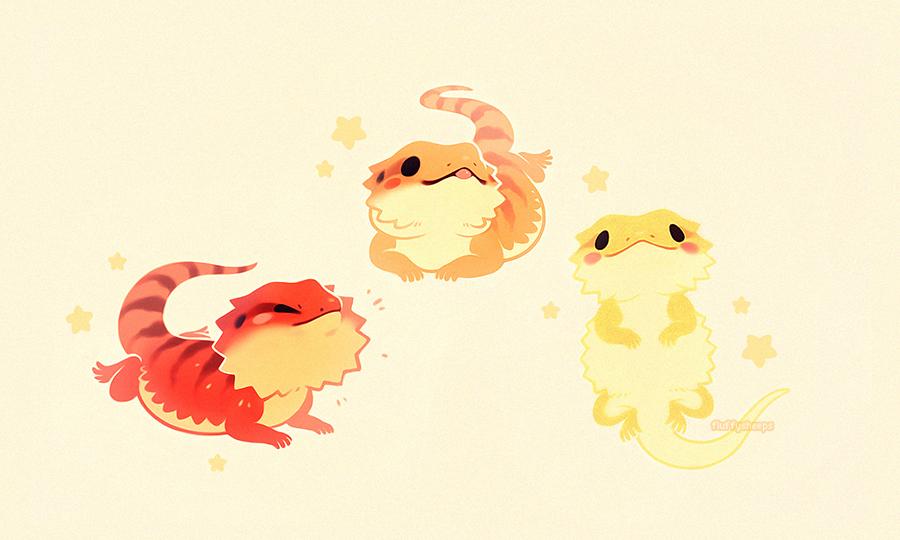Image of: Fantasy Smiles And Tears Photo Geckos Lizards Snakes Cute Animal Drawings Kawaii Freepik Beardies Kawaii Pinterest Cute Drawings Drawings And Cute Art