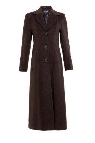 abb534e7975156 Mimi London Damen Baumwolle & Kaschmir lang Übergröße elegante Jacke -  Braun 52