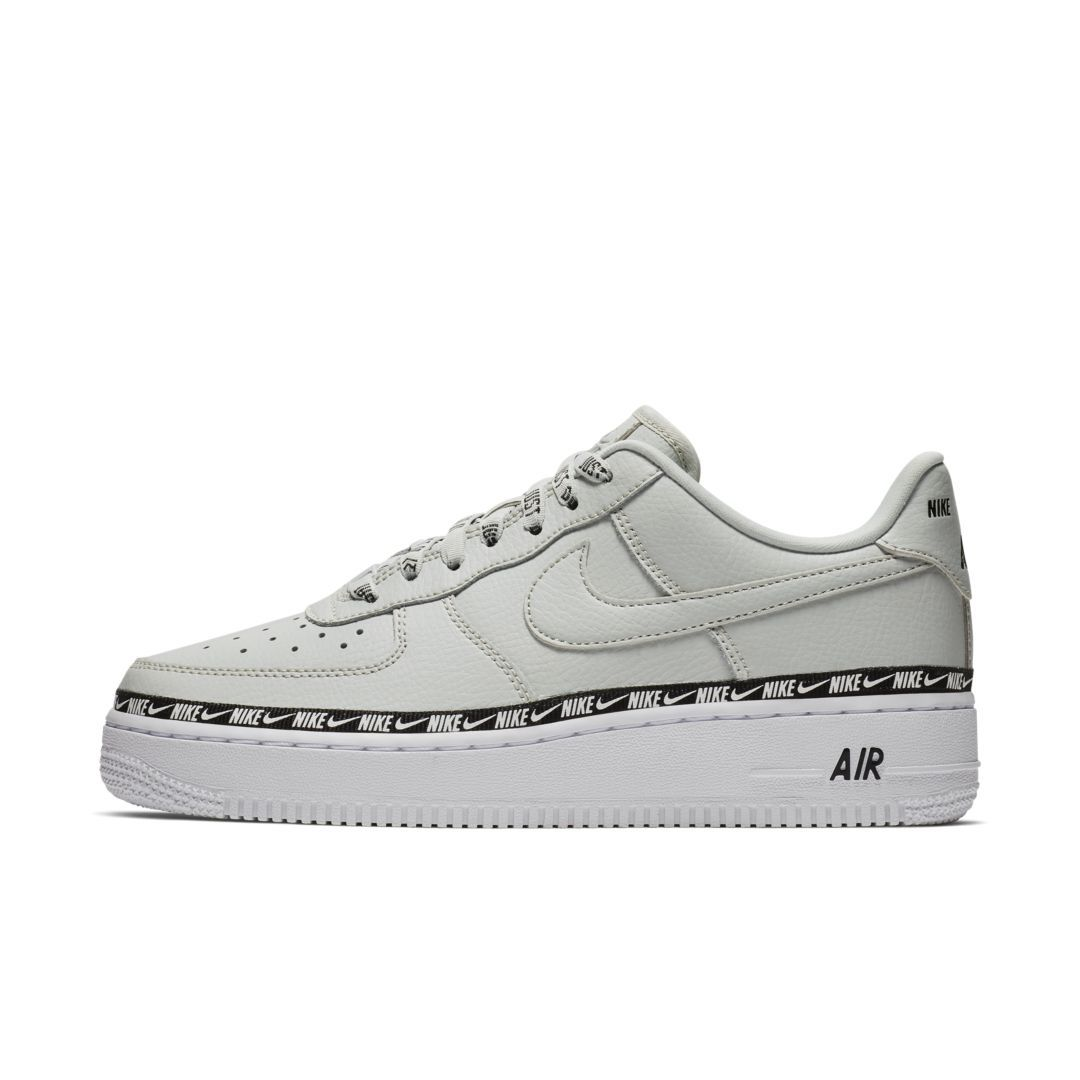 ab25044f30 Nike Air Force 1 '07 SE Premium Overbranded Women's Shoe Size 12 (Light  Silver)