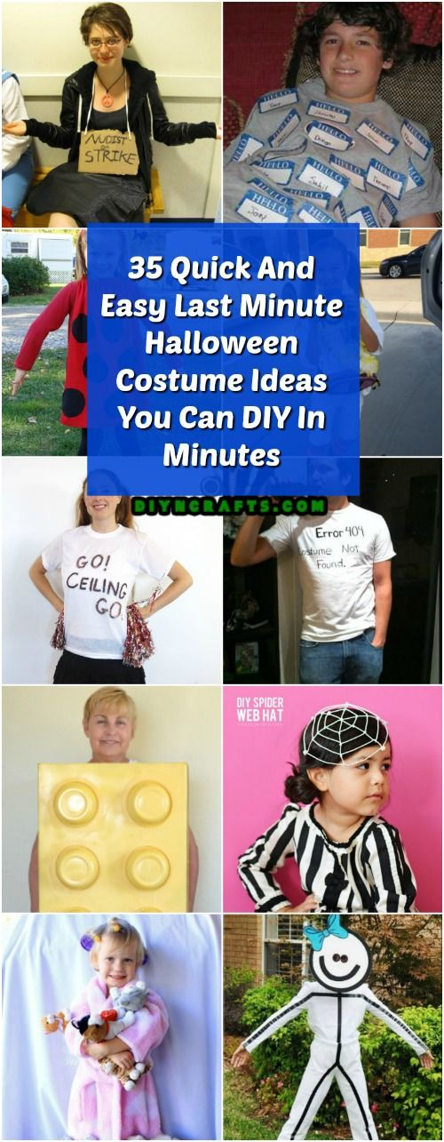35 Quick And Easy Last Minute Halloween Costume Ideas You Can DIY In - quick halloween costumes ideas