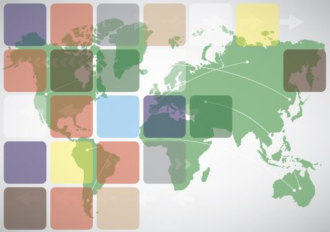 World map business card design with squares could be used for world map business card design with squares could be used for postcard catalog flyer free vector gumiabroncs Image collections