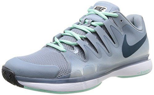 NIKE Zoom Vapor 9.5 Tour Men's Tennis Shoe, Grey/ Mint, US8.5