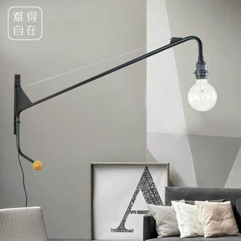 Vintage American Country Wall Lamp Loft Designer Jean Prouve Potence Wall Light Long Arm Svetlye Steny Nastennye Lampy Bra Dlya Spalni