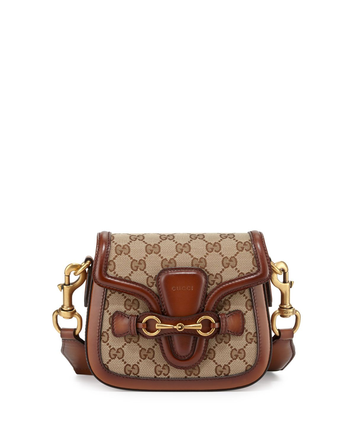 dadfabf0ff666a Gucci Lady Web Small GG Canvas Shoulder Bag, Brown, Women's, Brown/Red/Green