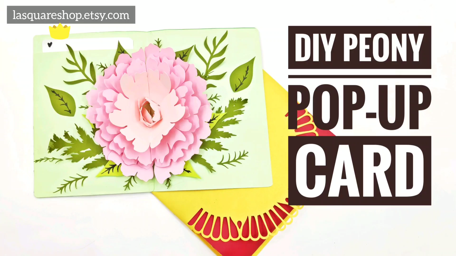 3d Pop Up Greeting Card Diy Flower Pop Up Card Printable Etsy Video Video Pop Up Flower Cards Pop Up Card Templates Pop Up Christmas Cards
