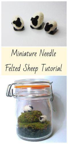 Miniature Needle Felted Sheep Tutorial – Hollie's Hobbybox #needlefelting