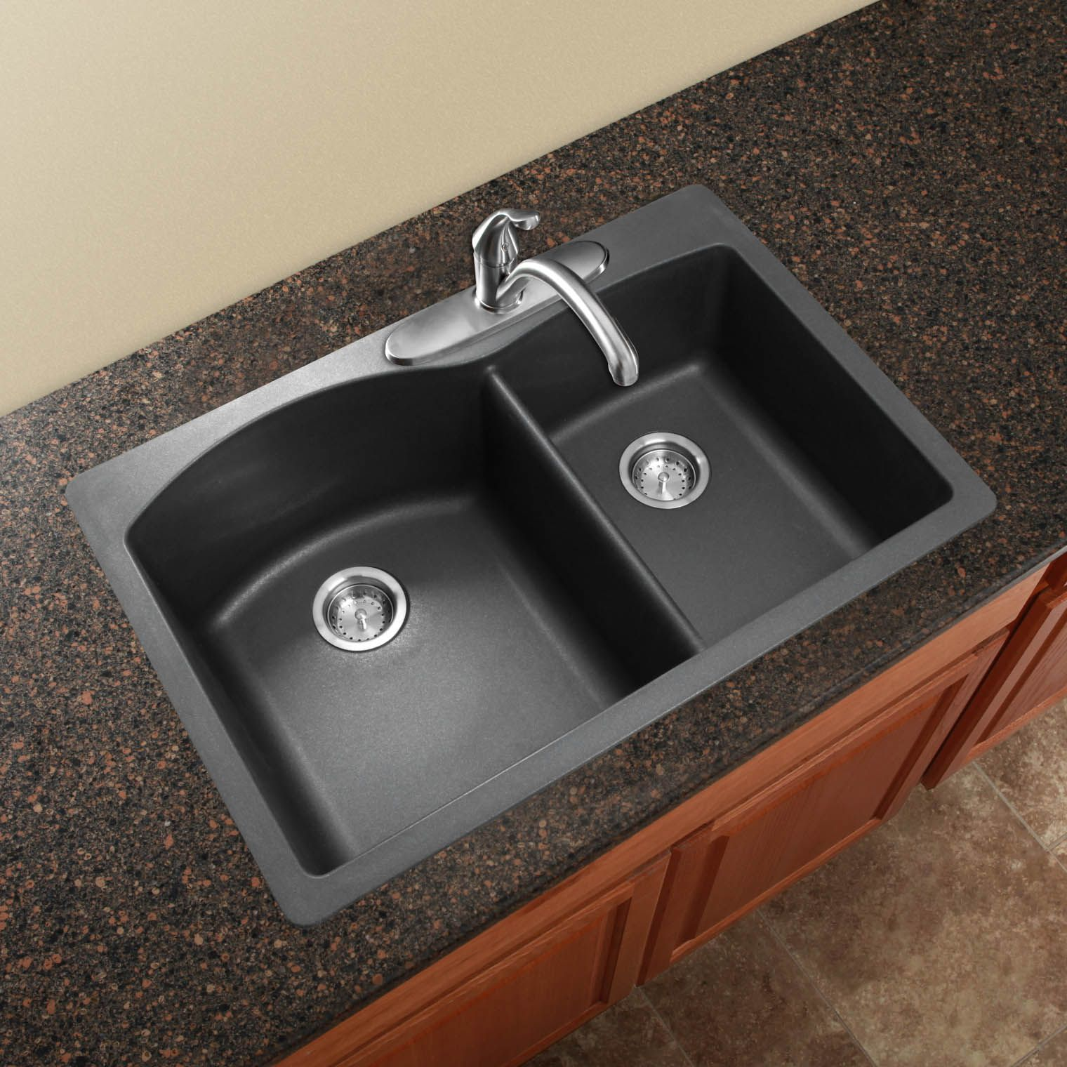 Blanco America diamond SILGRANIT black kitchen sink