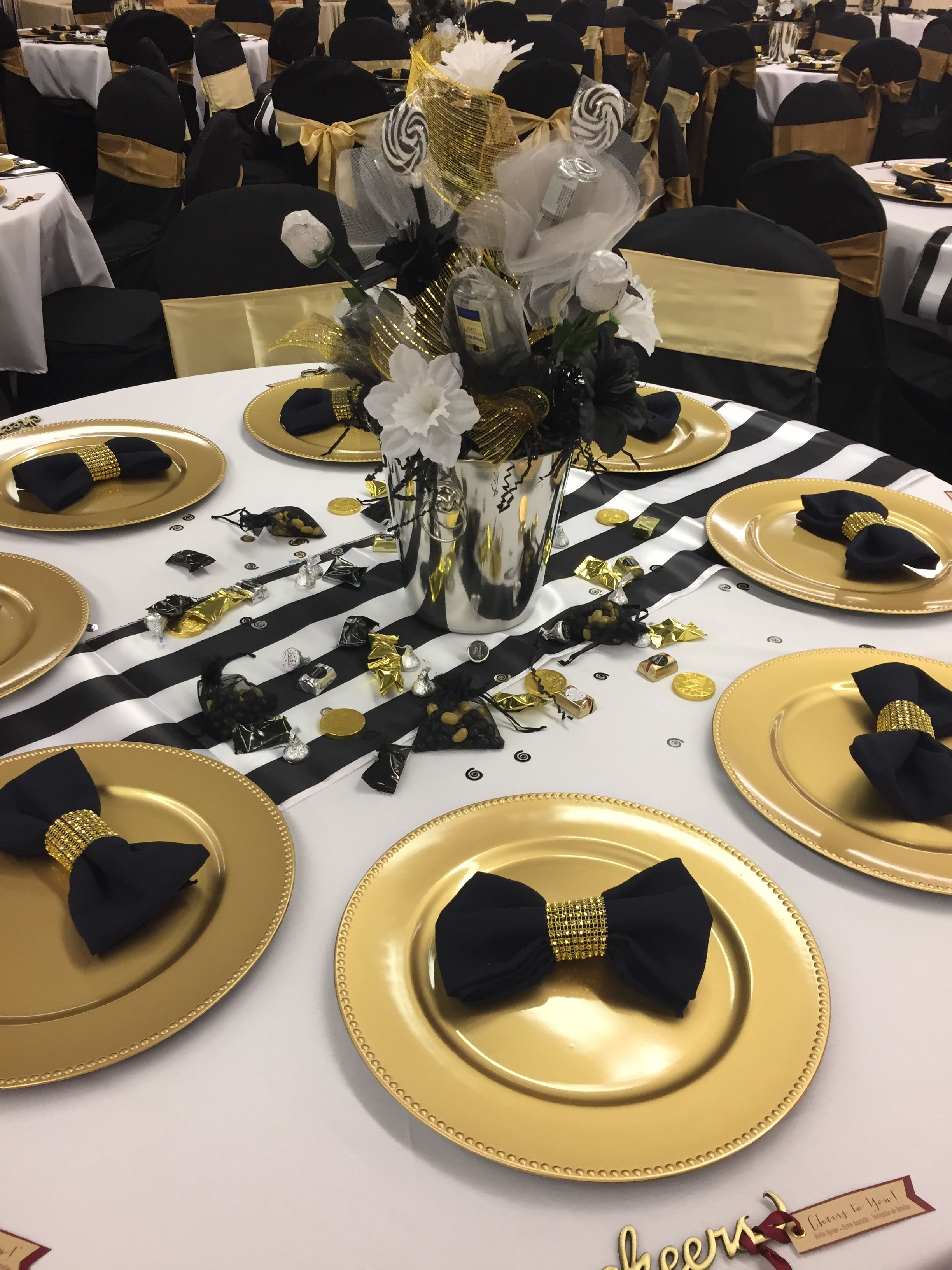 Made These Napkins For Dads Retirement Gold Party Decorations