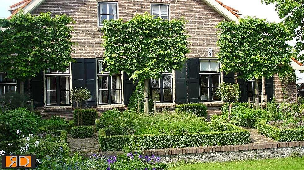 Teo van horssen tuinontwerp boerderijtuin buxushaag hovenier tuin in landelijke stijl - Tuinontwerp ...