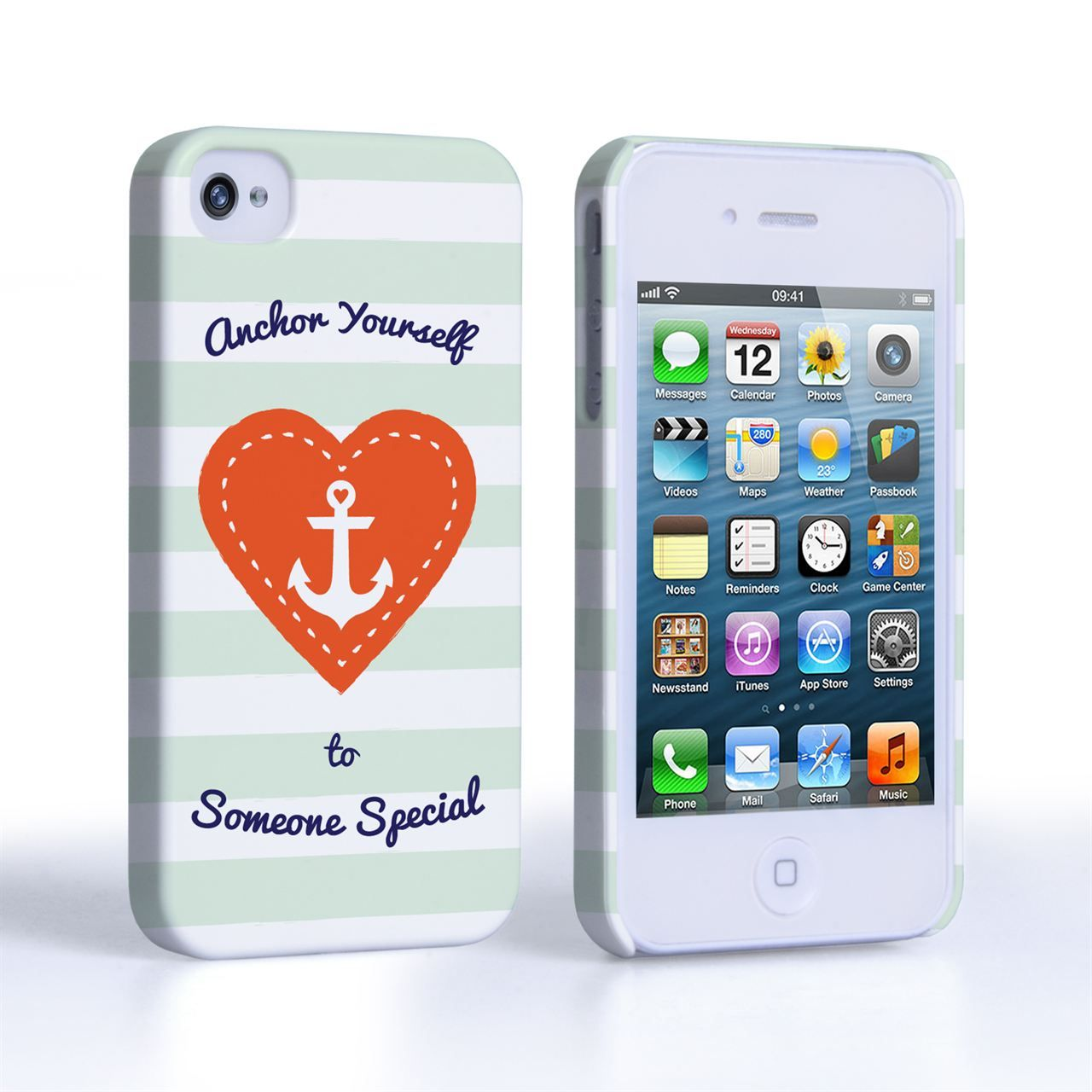 iPhone 4S Anchor Love Heart Case #Red #Mint #White #Navy #Anchor #Heart #Typography #Illustration #sailor #Ship #Minimal #Valentine #Love #ValentinesDay #Gift #Present #iPhone4 #iPhone4S #Case #Cover #HardCase #PhoneCover #Valentines