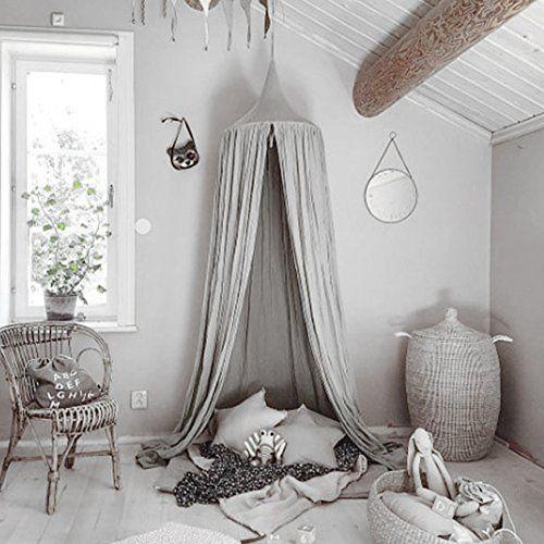 RENZE Moskitonetz Baldachin, Prinzessin Baldachin Dome Prinzessin Bett  Baumwolltuch Zelte Kinderzimmer Dekorieren Für Baby