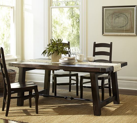 Dining Room Tables Pottery Barn benchwright extending rectangular dining table, 108 x 42